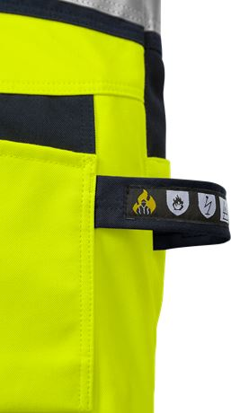Flamestat high vis craftsman bib'n'brace cl 2 1075 ATHS 3 Kansas  Large