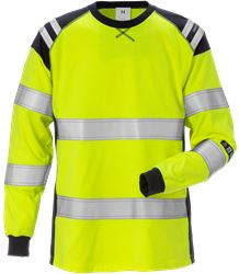 Flamestat high vis long sleeve t-shirt woman class 3 7097 TFLH Fristads Medium