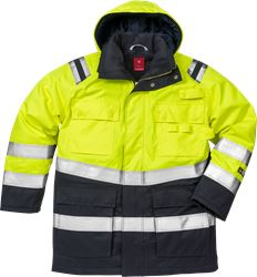 Flamestat Hi Vis parka jakke kl.3 4086 Kansas Medium