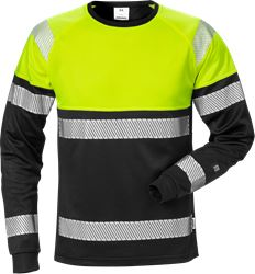 High vis long sleeve t-shirt class 1 7519 THV Fristads Medium