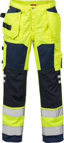 High Vis Handwerkerhose Kl. 2 2025 PLU 1 Kansas  Large