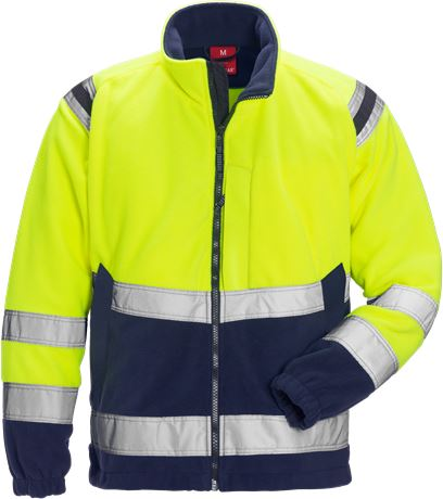 Hi Vis fleecejakke kl. 3 1 Kansas  Large