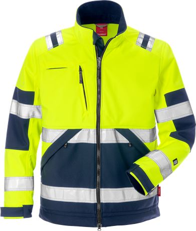 Hi Vis softshelljakke kl. 2 1 Kansas  Large
