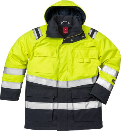 Flamestat high vis winter parka cl 3 4086 ATHR 1 Kansas  Large