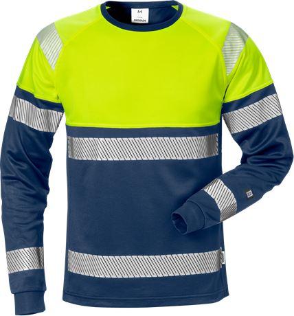 Varsel långärmad T-shirt 7519 THV, klass 1 1 Fristads