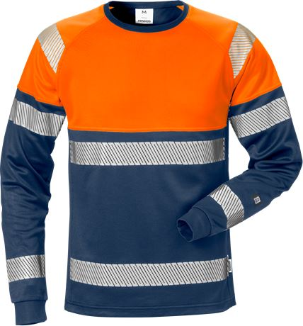 High vis long sleeve t-shirt class 1 7519 THV 1 Fristads  Large
