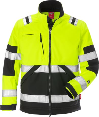 Hi Vis Softshelljakke kl.2 1 Kansas  Large