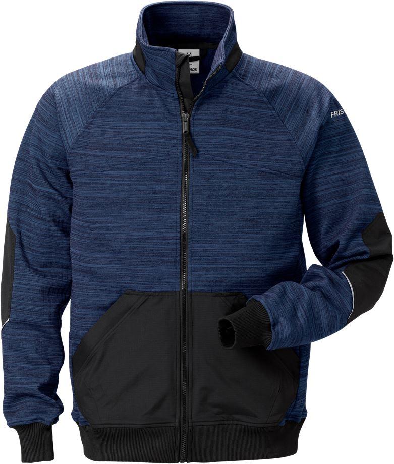 Fristads Unisex Sweatshirt-jacka 7052 SMP, Marinblå/Svart
