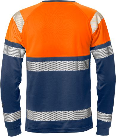 High vis long sleeve t-shirt class 1 7519 THV 2 Fristads  Large