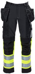 Ladies Tool Pocket Trousers HiVis 3.0 Stretch Leijona Medium