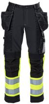Ladies Tool Pocket Trousers HiVis 3.0 Stretch 1 Leijona Small