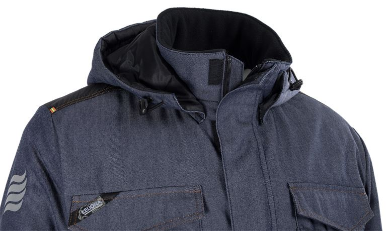 Winter Jacket FleX Denim  3 Leijona  Large