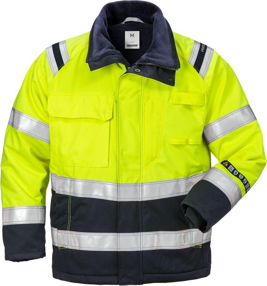 Fristads Men's Flamestat Vinterjacka 4185 ATHS, klass 3, Varsel Gul/Marinblå