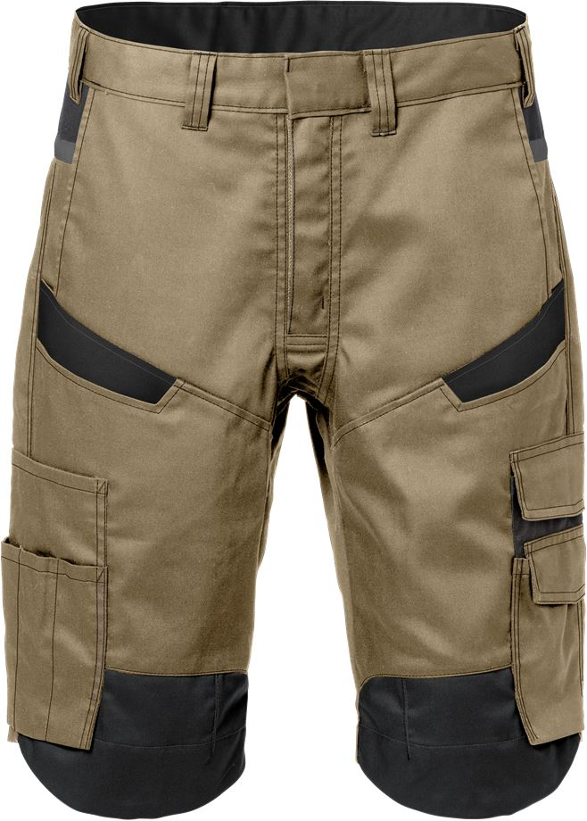 Fristads Men's Shorts 2562 STFP, Khaki/Svart