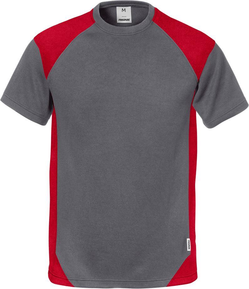 Fristads Men's T-shirt 7046 THV, Grå/Röd