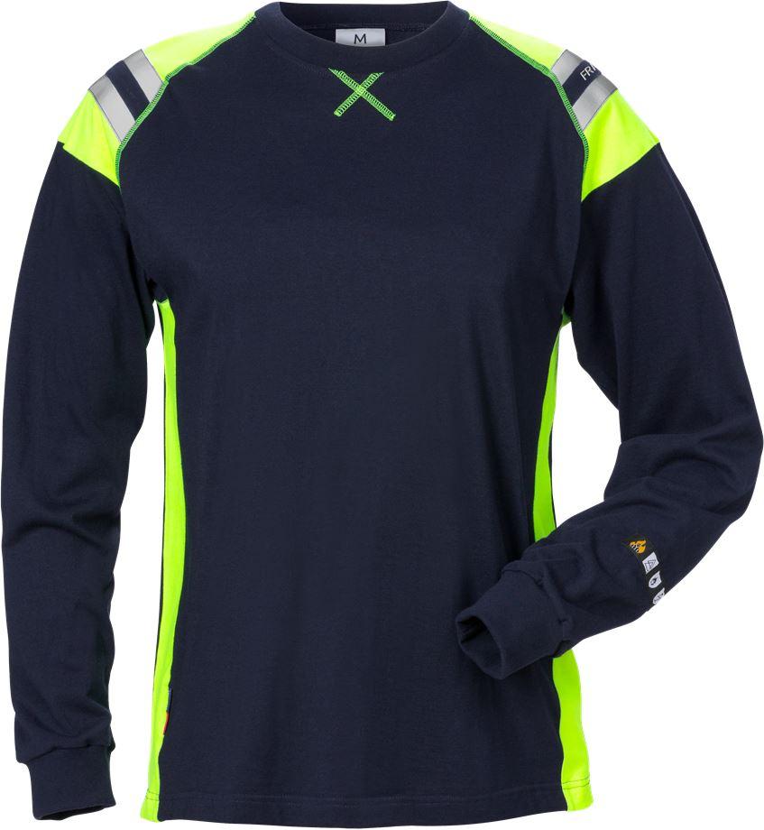 Fristads Women's Flamestat långärmad T-shirt 7098 TFLH, dam, Mörk marinblå