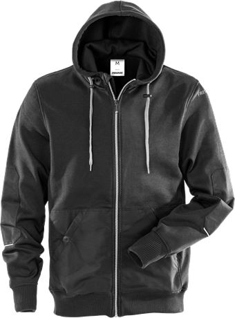 Sweatshirt-jacka med huva 7783 LYS 1 Fristads  Large